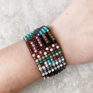 Chan Luu Multi Bead Cuff Bracelet